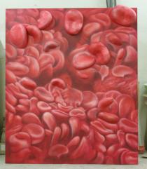 """Blut"" Acryl/Kunststoff"